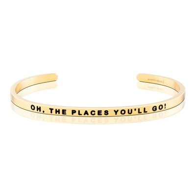 MANTRABAND 台北ShopSmart直營店 OH THE PLACES YOU WILL GO 金色 勇敢去冒險