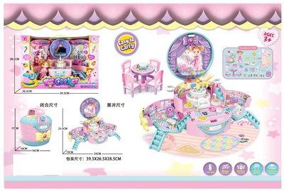 【好孩子福利社】甜心電飯煲 城堡別墅 帶燈光音樂 女孩拼裝玩具 過家家玩具