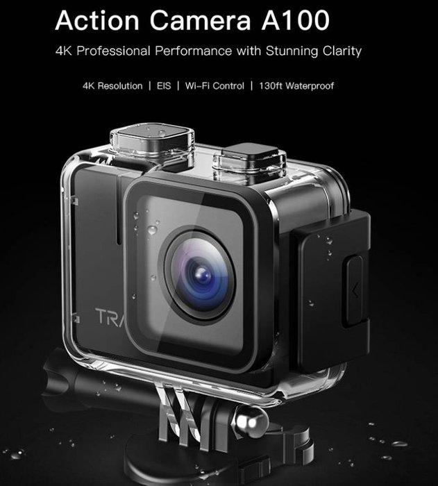 呈現攝影-APEMAN A100 4K防水運動攝影機 防震 170度 廣角 錄影 縮時 遠端 多配件 公司貨