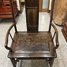 老紅酸枝館官帽椅 兩椅一几