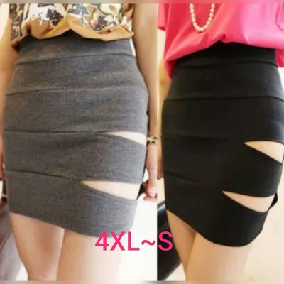粉粉大尺碼~GP09加大碼性感鏤空包臀裙4XL~S(其他尺寸需訂製)
