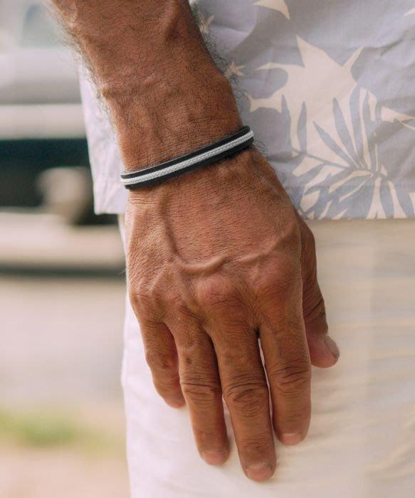 【紐約范特西】預購 PIG & HEN NAVARCH 8 N8-SS20-142000 紅編織/黑環 船繩手環