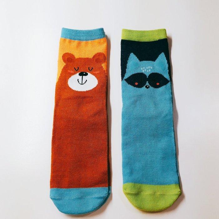 幸運草小舖♥ 可愛動物小熊 狐狸造型襪子 中筒 3/4長襪