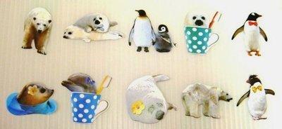 日本 Flake Stickers 北極熊企鵝 貼紙(10枚)