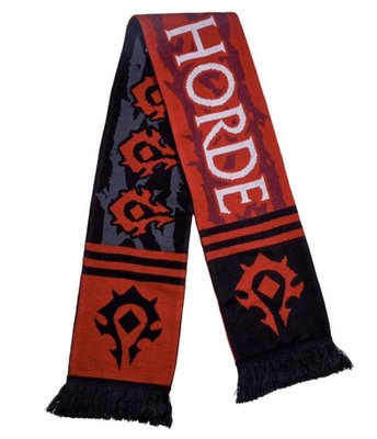 【丹】暴雪商城_World of Warcraft Fringe Scarf - Horde 魔獸世界 部落 圍巾