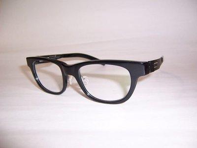 光寶眼鏡城(台南) ic berlin,最舒適人體工學薄鋼眼鏡*專利三叉無螺絲* nameless 4  black 公司貨