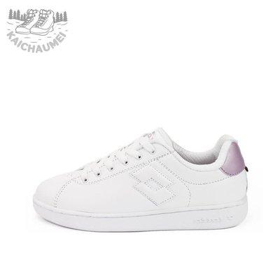 凱喬美 零碼出清 LOTTO 義大利 女 1973 經典 室內 網球鞋 LT8AWC6733 白/粉 公司貨 復古 機能