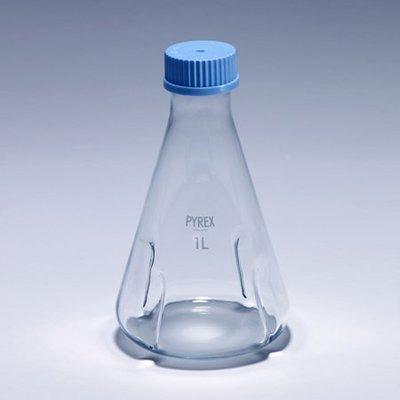 『德記儀器』《PYREX》振盪三角瓶 GL45 Flask, Baffled Shake, Screw Cap