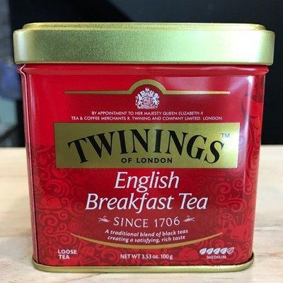 *卡拉拉咖啡精品*英國 TWININGS 唐寧茶 英倫早餐茶 ( 100g/罐 )