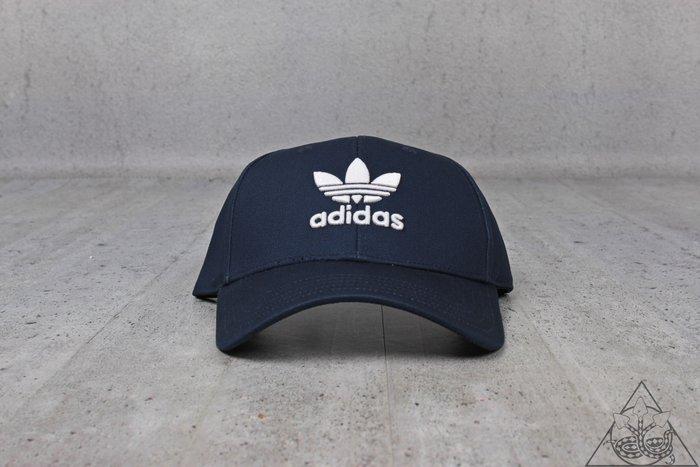 【HYDRA】Adidas Originals Trefoil Cap 三葉草 愛迪達 老帽 彎帽 深藍【DV0174】