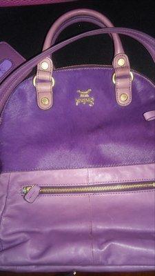 Salad 紫色夢幻手提/肩背/ 沒使用過 皮革正貨