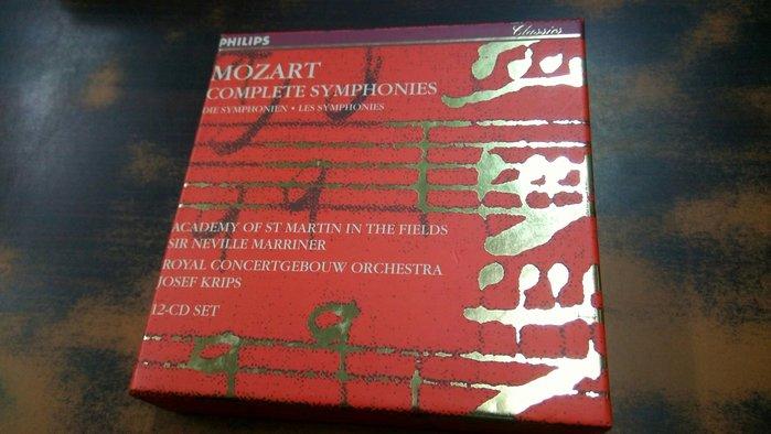 好音悅 半銀圈 Marriner Krips Mozart 莫札特 交響曲全集 12CD Philips 德PMDC版