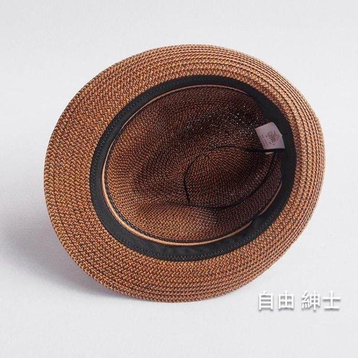 YEAHSHOP 新品沙灘帽復古巴拿馬草帽男爵士Y185