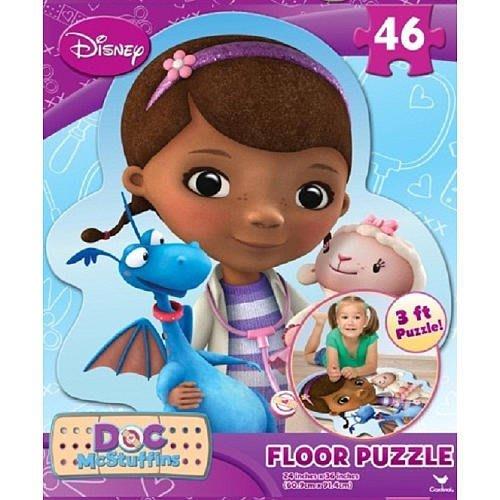 【Disney 迪士尼】100% 全新正品 小醫師大玩偶 46片 超大地板拼圖 (長91.4cm x 寬60.9cm)