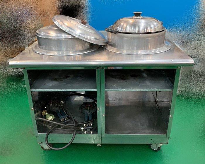 【宏品二手家具館】 X42067 *白鐵餐車含快速爐* 2手餐飲設備拍賣 冷氣冷凍空調 冷藏冷凍飲料冰箱 營業器具拍賣