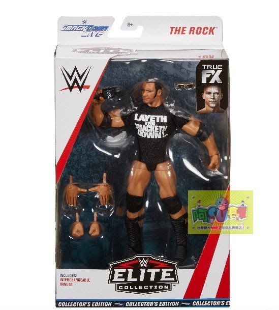 ☆阿Su倉庫☆WWE摔角 The Rock Exclusive Elite Figure 巨石強森限定精華版人偶附偶衣