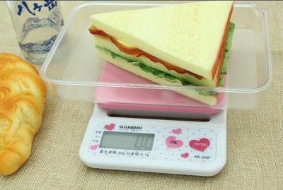 【嚴選SHOP】附電池 可愛粉紅 3公斤電子秤 精度值0.1公克 冷光 料理秤 磅秤秤食物 迷你台秤烘焙秤【E011】