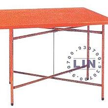 【品特優家具倉儲】R806-18餐桌剪刀腳纖維桌紅色2*3尺