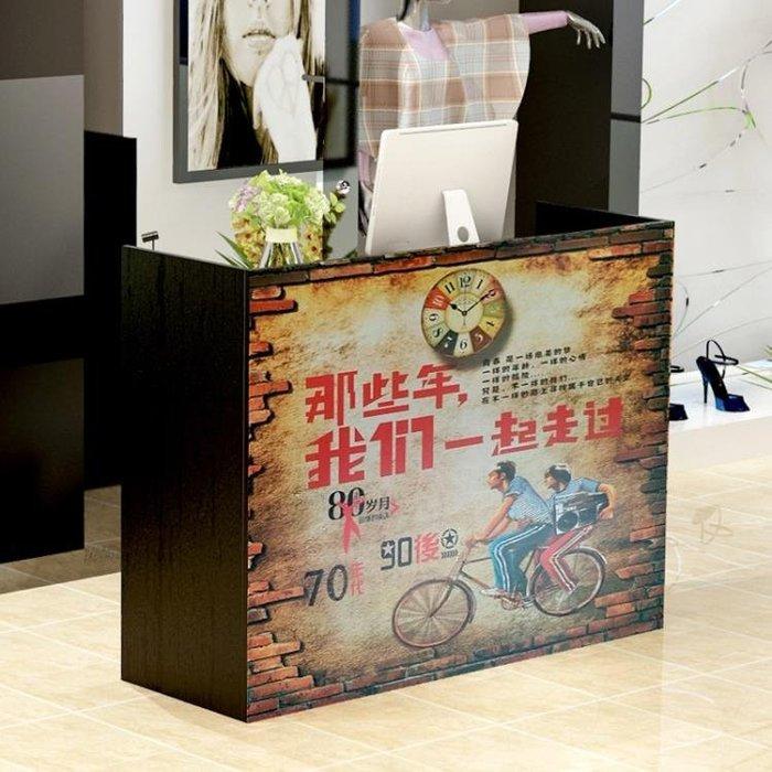 收銀台櫃台吧台簡約現代時尚服裝店前台超市收銀櫃飯店接待台櫃台CY