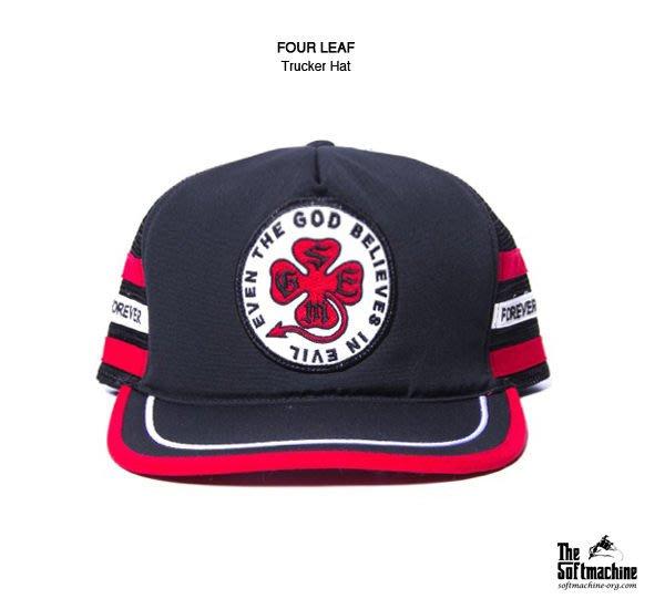 GOODFORIT /  日本刺青品牌SOFTMACHINE FOUR LEAF四葉草貼布標語刺繡卡車帽款