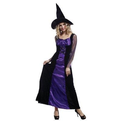 乂世界派對乂 萬聖節服裝,萬聖節道具,變裝派對,大人變裝服/紫巫婆服裝
