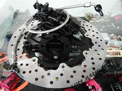 【 輪將工坊 】YCR 碟盤 仿B對四 金屬油管 卡鉗座  IRX 115 JET-POWER NT NEW FT 非