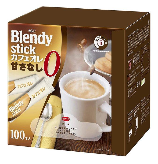 TAKI MAMA 日本代購 AGF Blendy stick 無糖咖啡歐蕾100本入 預購中 超值大包裝