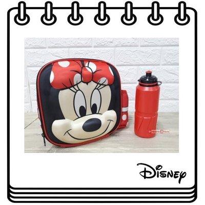 【Drawer】Disney Lunch Bag and Bottle 迪士尼 3D圖案 便當盒 便當袋 水壺 米妮