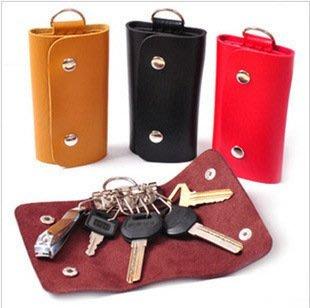 晶華屋--皮質男女通用鑰匙包/時尚鑰匙扣
