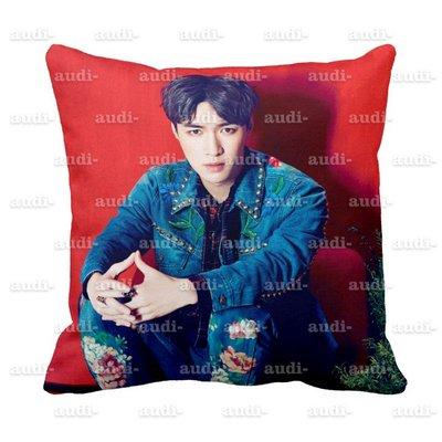 【須預購】EXO 40X40公分 雙面彩印方型抱枕 含加厚枕芯 40X40cm 伯賢 張藝興 燦烈 世勳 枕頭 來圖訂做