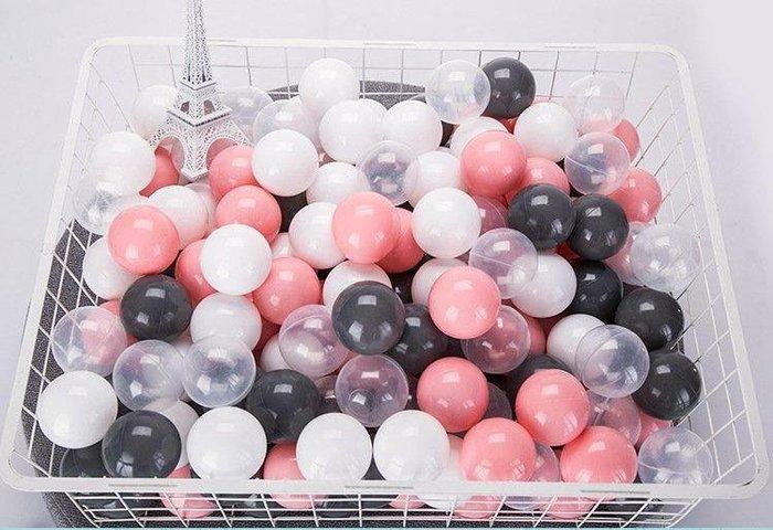 ✦愛美家✦7cm兒童马卡龍海洋球寶寶塑料環保波波球100顆