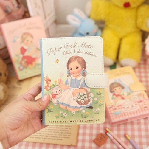 好心情日韓正品雜貨『 韓國 afrocat』萬年曆 2020 Paper doll mate 洋娃娃週計劃行事曆皮質手帳