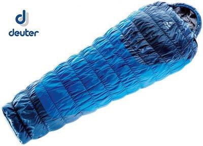 丹大戶外【Deuter】德國 Exosphere+2°纖維睡袋 3700115 淺藍/深藍