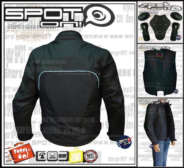 Spot ON - TS08 牛皮打洞款賽車服.可拆式防寒內裏-可拆硬式護具!天天代訂^^ 現貨出清! 頂克 FOX R