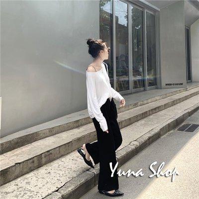 ☆YUNA SHOP☆【D-8269】設計師款慵懶風寬鬆薄款針織衫罩衫上衣/三色☆特價 兩件免運