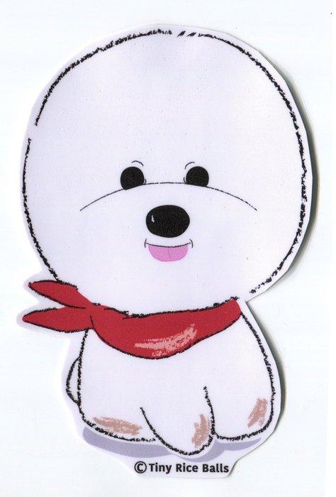 小飯糰 比熊大型防水貼紙 比熊小蔥  行李箱貼紙