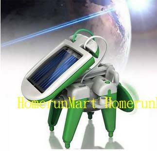 RK兒童科學實驗6合1太陽能機器人DIY益智太陽能玩具六合一 科教玩具機器人系列教育性玩具太陽能拼裝組合模型益智玩具教具