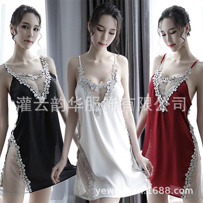 99巷 夜店性感內衣透視網紗睡衣情趣套裝紅黑色情趣內衣套裝批