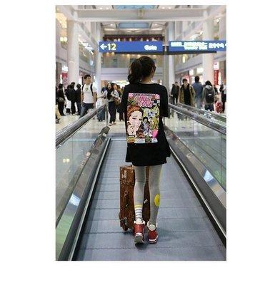 =EZZ=早班車5511 韓國 首爾時尚精品 東大門同步上新 新款夏装女式纯棉 印花短袖寬鬆休閒圓領t恤