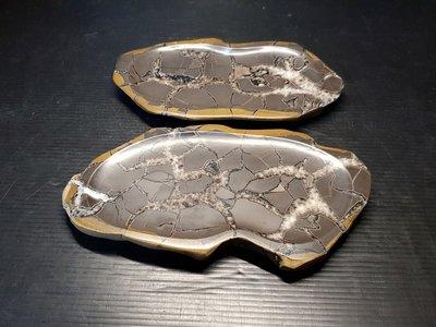石在有趣~新石器時代/龜甲石長杯墊2個一組