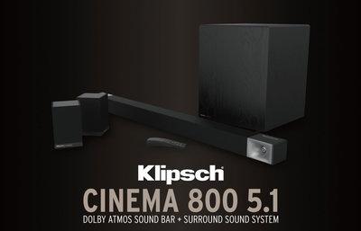 Klipsch cinema 800 5.1家庭劇院組
