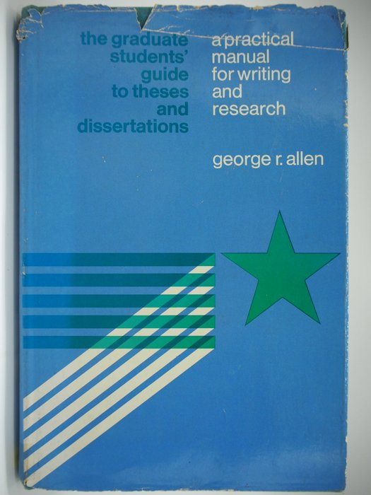 Graduate students' guide to theses and Dissertation〖大學社科〗AGC
