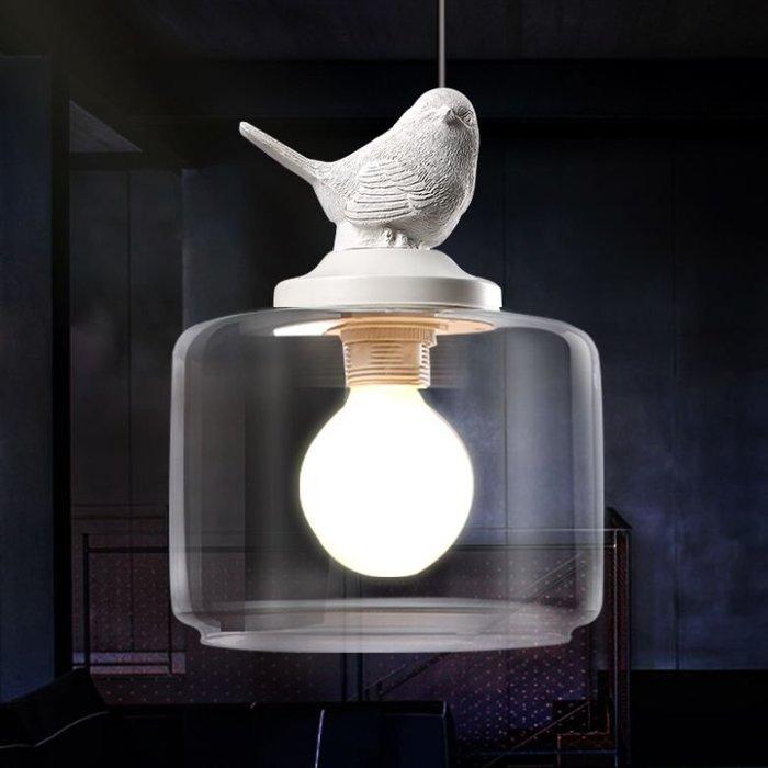 【奇滿來】小鳥 吊燈 美式法式 北歐地中海 復古鄉村風 書房 客廳 吧台 工業 咖啡廳 創意簡約吊燈 不含燈泡 AGDH