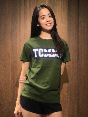 美國百分百【全新真品】Tommy Hilfiger T恤 TH 男 T-shirt 短袖 logo 深藍/軍綠 K158