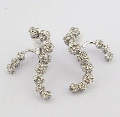 【JHT金宏總珠寶/GIA鑽石專賣】天然鑽石耳環/材質:750(JB47-A20)