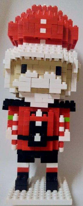 「一番街手作」紅高帽士兵積木娃娃