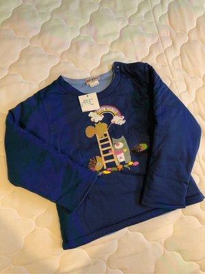 全新專櫃購入 愛的世界 MYBEAR 兩面穿純棉舖棉肩扣長袖上衣 6歲  厚棉秋冬新款 台灣製造 男女童裝  1/2 麗嬰房