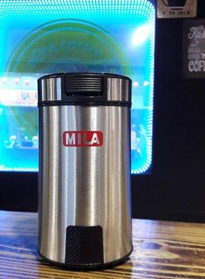【多塔咖啡】免運 MILA 電動研磨機 贈清潔毛刷不鏽鋼機身 磨豆機 電動磨豆機 省空間好清理 方便快速 公司貨保固一年