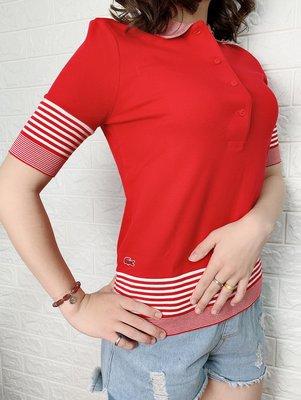 Look 鹿客 LACOSTE鱷魚 女 設計款POLO衫 PF0942-10
