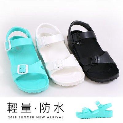女款 一體成型EVA極輕量釦飾柔軟彈性止滑 防水涼鞋 平底涼鞋 MIT製造 Ovan